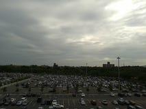 Perspectiva del campo de la ciudad foto de archivo