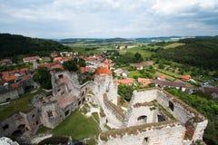Perspectiva del castillo Rabi Fotografía de archivo libre de regalías