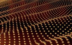 Perspectiva del fondo del extracto de la tecnología del oro 3d rinden Foto de archivo
