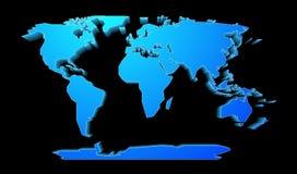 Perspectiva del mapa del mundo Fotografía de archivo