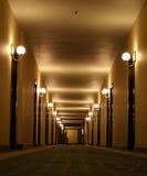 Perspectiva del pasillo del hotel Imagen de archivo libre de regalías