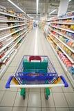 Perspectiva del supermercado Foto de archivo libre de regalías