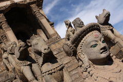 Perspectiva del templo Foto de archivo