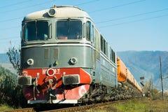 Perspectiva del tren en Rumania fotografía de archivo