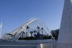 Perspectiva del Umbracle en Valencia imagen de archivo libre de regalías
