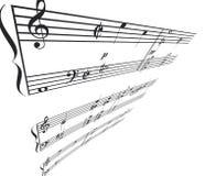 Perspectiva do ângulo da música Imagens de Stock