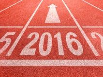 perspectiva do ano 2016 novo e conceito do sucesso fotografia de stock royalty free