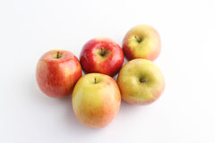 Perspectiva do en dos pommes de Cinq Fotografia de Stock
