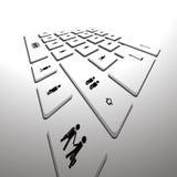 Perspectiva do teclado de computador Imagem de Stock Royalty Free