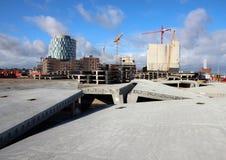 Perspectiva en elementos de la construcción con el fondo del sitio Foto de archivo libre de regalías