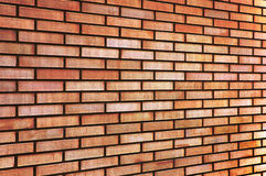 Perspectiva fina bronzeado do fundo da textura da parede de tijolo do bege amarelo vermelho do Grunge, grande fundo horizontal de Foto de Stock