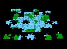 Perspectiva global del rompecabezas ilustración del vector