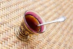 Perspectiva marroquí de la taza de té Fotografía de archivo libre de regalías