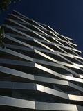 Perspectiva moderna del edificio de la arquitectura Foto de archivo libre de regalías