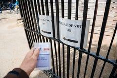 Perspectiva personal de Bureau de Vote, pov Imagen de archivo libre de regalías