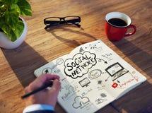 Perspectiva pessoal de Person Planning para o trabalho Foto de Stock