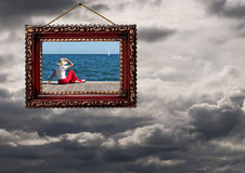Perspectiva positiva - tiempo o vida, concepto - tormentas y sunshin Fotos de archivo