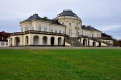 Perspectiva principal de la soledad de Schloss, Stuttgart Imágenes de archivo libres de regalías