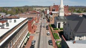 Perspectiva a?rea Lexington Virginia los E.E.U.U. de los edificios hist?ricos almacen de video
