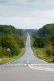 Perspectiva vazia da estrada Imagem de Stock