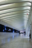 Perspectiva visual disparada da estação de metro de WTC Fotografia de Stock