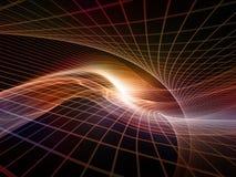 Perspectivas de los reinos del fractal ilustración del vector