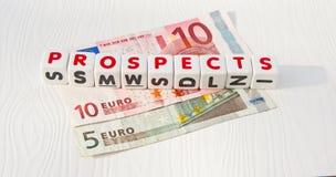 Perspectivas del euro Fotos de archivo libres de regalías
