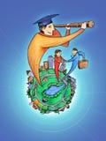 Perspectivas do estudante graduado Imagem de Stock Royalty Free