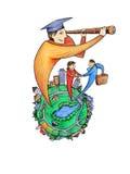 Perspectivas do estudante graduado Imagens de Stock Royalty Free