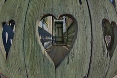 Perspectivas interesantes motivas del corazón fotos de archivo libres de regalías