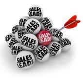 Perspectivas novas dos clientes empresa das bolas da pirâmide das ligações das vendas Fotos de Stock