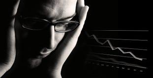 Perspective économique faible Photos stock