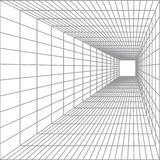 Perspective. Vector perspective silver lines on white background Royalty Free Stock Photography
