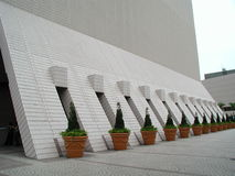 Perspective. Shooting of Hong Kong Culture Centre Royalty Free Stock Photography