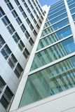 Perspective. Looking at an office building with a wide angle perspective Royalty Free Stock Image