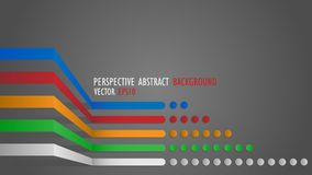 Perspective abstract background. Vector illustration Stock Photo