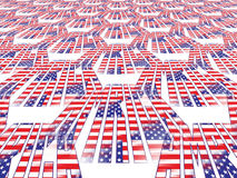 Perspective American flag Royalty Free Stock Photo