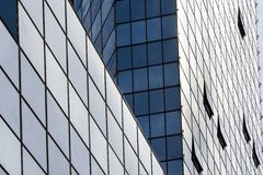 Perspective angle view to modern glass building skyscrapers Stock Image