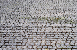 Perspective background of cobblestone pavement Royalty Free Stock Photography