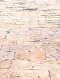 Perspective background : Sand stone brick perspective floor,text Royalty Free Stock Photography