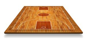 Perspective Basketball court floor with line on wood texture background. Vector illustration.  vector illustration