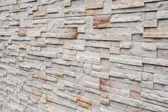 Perspective of brick wall Stock Photo