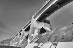 The Bridge Perspective. A perspective of a bridge in California Stock Photography