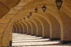 Under bridge in Egypt royalty free stock photos