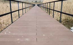 Perspective of bridge walkway Stock Photography