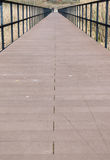 Perspective of bridge walkway Stock Image