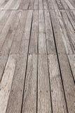 Perspective brown wood floor Stock Photo