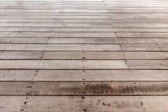Perspective brown wood floor Stock Photography