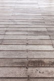 Perspective brown wood floor Royalty Free Stock Photography