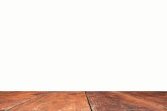 Perspective brown wood on white background, stock photo Royalty Free Stock Photos